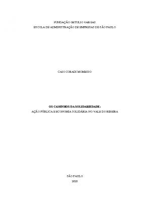 Dissertação Caio Momesso – Os Caminhos da Solidariedade 2020
